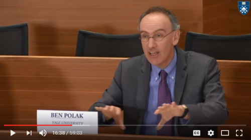 Yale Provost Ben Polak addresses carbon pricing webinar