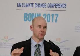 Casey Pickett presented on a panel at UN COP23